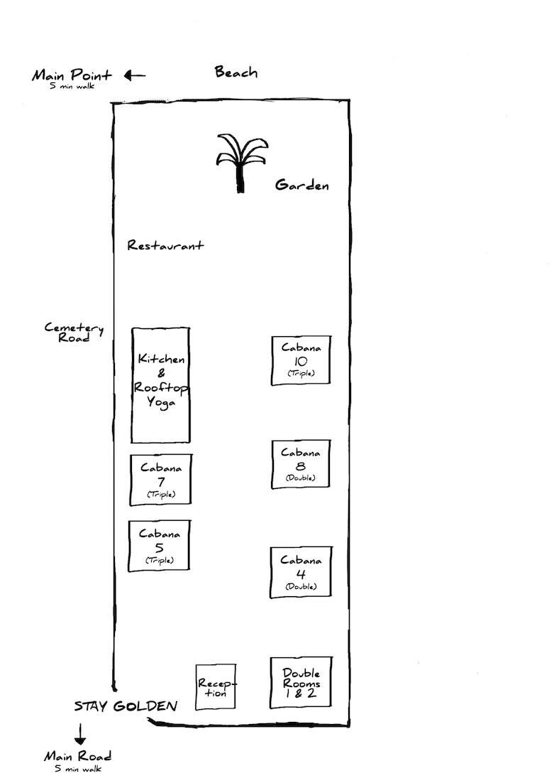 Stay Golden Arugam Bay Hotel Map